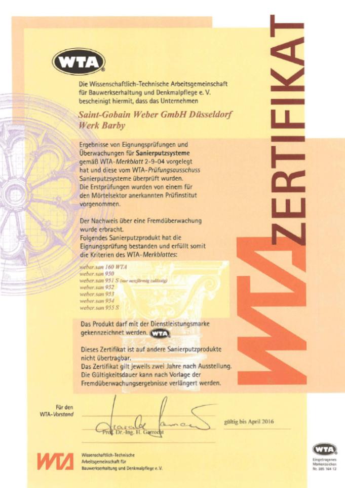 WTA-Zertifikat