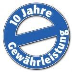 10 Jahre Gewährleistung