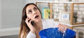 Bei einem Wasserschaden Vermieter kontaktieren