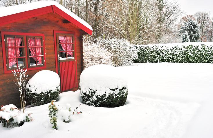 Gartenhaus auch im Winter nutzen