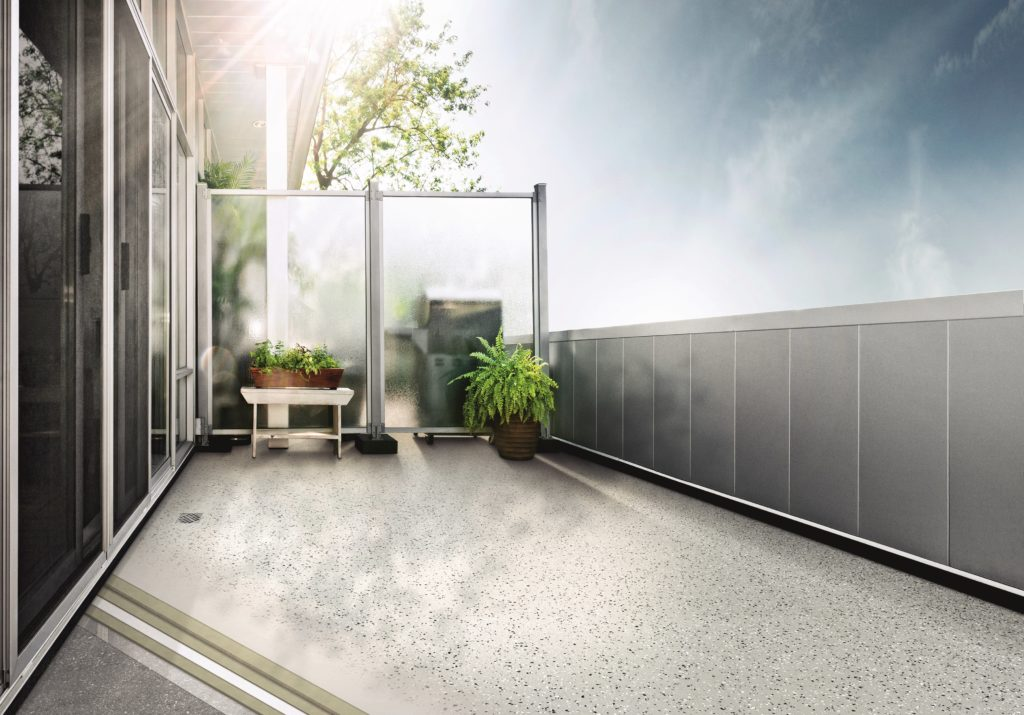 Oberflächenbeschichtung Balkonsanierung in verschiedenen Farben