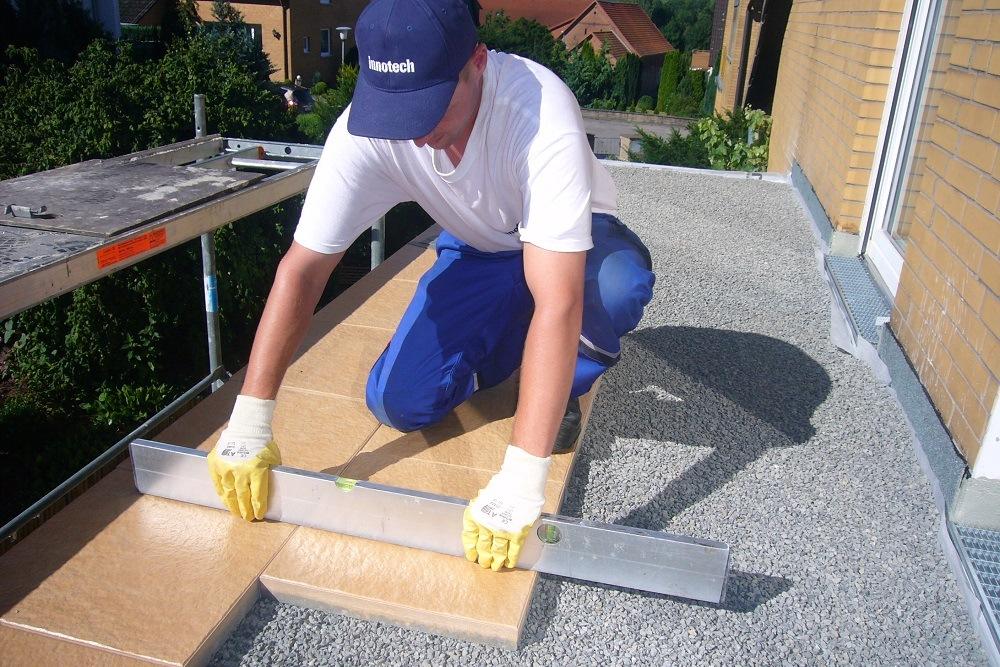 Verlegung der Bodenplatten