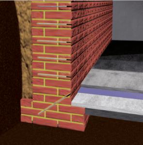 Die Flächeninjektion verfüllt mit Spezialharzen dauerelastisch Kapillare, Poren, Hohlräume und Risse im Mauerwerk